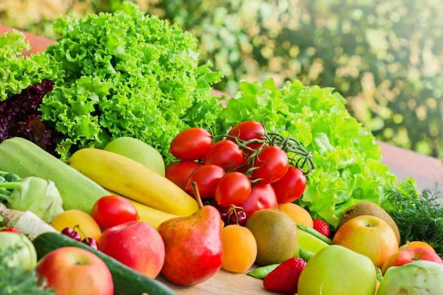 Photo of well lit fruits and vegetables